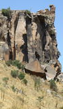 Гора утеса в долине ihlara стоковая фотография rf