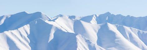 Гора, утро, зима, ландшафт снега Стоковое Изображение