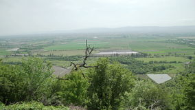 Гора формы взгляда на долине Georgia Alazani акции видеоматериалы