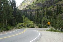 гора хайвея сценарная стоковое фото rf