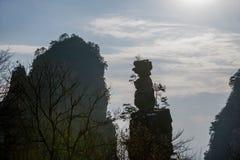 Гора Хунани Zhangjiajie национальная Forest Park Yangjiajie, Стоковое фото RF