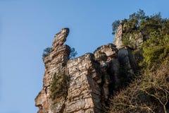 Гора Хунани Zhangjiajie национальная Forest Park Yangjiajie, Стоковые Фотографии RF