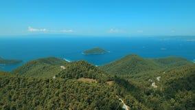 Гора центра леса Skopelos острова Греции сток-видео