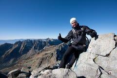 гора человека Стоковое фото RF
