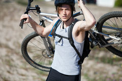 гора человека bike Стоковые Фотографии RF