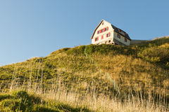 гора Швейцария дома для приезжих Стоковое фото RF