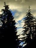 Гора 2 неба Стоковая Фотография RF