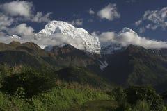 Гора Annapurna, Гималаи Стоковые Фото