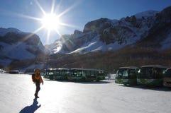 Гора в зиме, Китай Baekdu стоковые фотографии rf