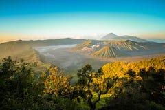Гора Bromo вулканическая, большинств назначение в ЯВА Стоковая Фотография