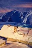 гора bucegi стоковое изображение