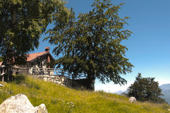 гора chalet Стоковые Фотографии RF