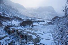 Гора Changbai в зиме Стоковые Фото