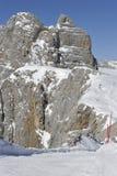 Гора Dachstein, катаясь на лыжах область Стоковая Фотография RF