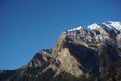 Гора Falknis около Maienfeld, Швейцарии Стоковое Фото
