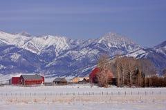 гора farmstead Стоковое фото RF