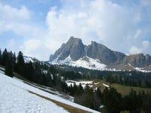 Гора Gauschla в юговосточной Швейцарии Стоковое Изображение