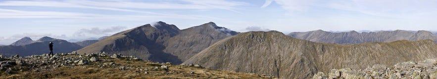 гора glencoe панорамная Стоковые Изображения RF