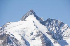 Гора Grossglockner самая высокая в Австрии 3 798m Стоковое Изображение RF