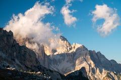 Гора Gusela Ла, Passo Giau, доломиты Стоковое Фото