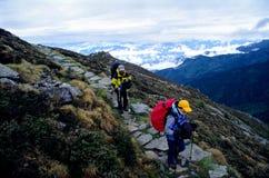 гора hikers Стоковое Изображение
