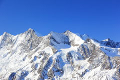 Гора Hohsaas, 3.142 m Альпы, Швейцария Стоковая Фотография RF