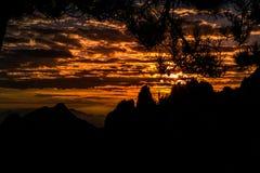 Гора Huangshan в Аньхое, Китае Стоковые Изображения