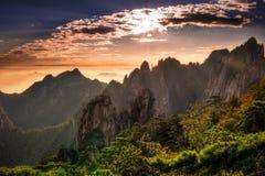 Гора Huangshan в Аньхое, Китае Стоковые Фотографии RF