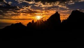Гора Huangshan в Аньхое, Китае Стоковая Фотография