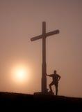 гора indamendi hiker Стоковые Фотографии RF