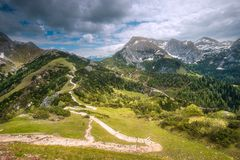 Гора Jenner около озера Konigssee, Berchtesgaden Стоковая Фотография RF