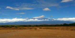 гора kilimanjaro Стоковое фото RF
