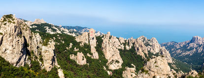 Гора Laoshan, след во время осени, Qingdao Jufeng, Китай стоковые изображения rf