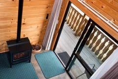 гора lodge квартиры нутряная деревянная Стоковая Фотография RF