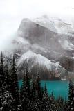 гора louise озера Стоковые Изображения RF