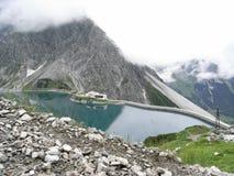 гора luenersee озера Стоковые Фото
