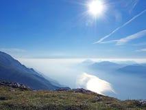 гора malcesine ландшафта Италии Стоковые Изображения RF