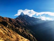 Гора Mardi Himal в Непале стоковая фотография