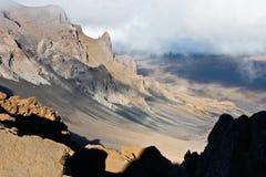 гора maui haleakala стоковая фотография
