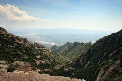 гора montserrat стоковое изображение rf