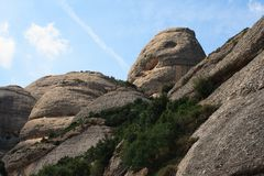 гора montserrat стоковые фотографии rf