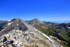 Гора Pirin, гребень Koncheto пика Vihren @ Стоковое фото RF