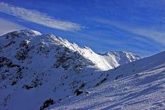 Гора Retezat в зиме Стоковые Фото