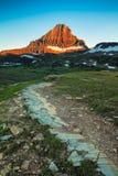 Гора Reynolds в зоне пропуска Logan национального парка ледника, Монтаны Стоковые Изображения