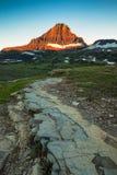 Гора Reynolds в зоне пропуска Logan национального парка ледника, Монтаны Стоковое Фото