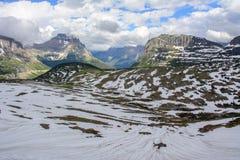 Гора Reynolds на пропуске Logan в национальный парк ледника в Монтане США Стоковое Фото