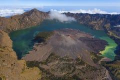 Гора Rinjani, Индонезия Стоковая Фотография
