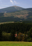 Гора Snezka Стоковые Фото