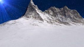 Гора Snowy (петля HD) иллюстрация штока