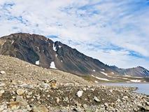 Гора Sosedka на Novaya Zemlya (новая земля) Стоковое Изображение RF
